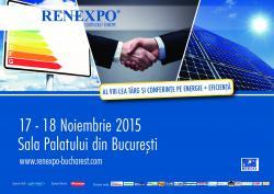 RENEXPO revine in Bucuresti  mai devreme si este mai scurt - acum intre 17 - 18 noiembrie!