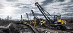 Lansatoarele de conducte Volvo PL3005D si PL4809D: modul productiv de amplasare a conductelor