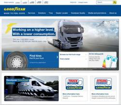Noul website pentru anvelope de camion de la Goodyear pentru intreaga regiune EMEA