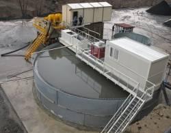 Hidrocicloane special pentru recuperarea si spalarea nisipului in balastiere