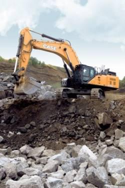 Impozantul excavator CX750D de la CASE, vedeta celei de-a 10-a editii Steinexpo