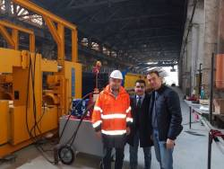 O noua linie de productie pentru grinzi din beton precomprimat la Prebet Aiud SA – Romania – fabricata de Bianchi Casseforme Spa si vanduta prin reprezentantul sau din Romania – Gabor Concrete Srl