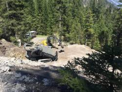 GRUNDODRILL 18ACS stapanind pantele abrupte din valea Brandnertal in Alpii de Est