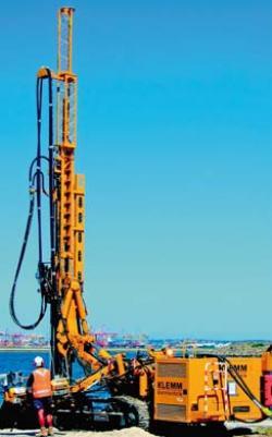 Utilaje si echipamente pentru foraje de consolidare în constructii