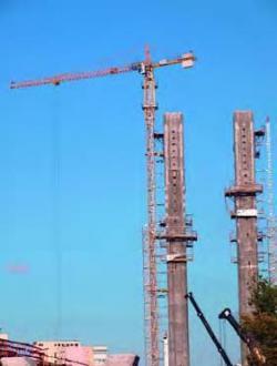 Macaraua Potain, o piesă importantă în constructia pasajului Basarab