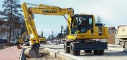 PW160-8,  un nou model de excavator pe pneuri de la Komatsu