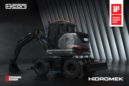 HİDROMEK'S 100% ELECTRIC WHEEL EXCAVATOR HICON 7W HAS WON ITS SECOND DESIGN AWARD
