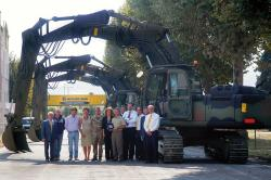 Armata Italiana testeaza excavatorul New Holland E245B