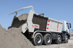 Noul sistem de glisare Fliegl pentru camioane si dumpere