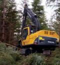 Excavatoare pe şenile Volvo cu echipamente forestiere
