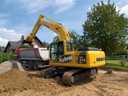 Excavatorul Komatsu Hybrid HB215LC-1