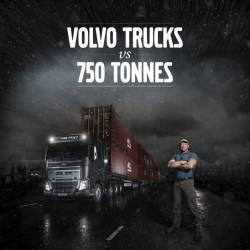 Autocamionul Volvo FH16 si transmisia I-Shift cu trepte de forta reusesc sa urneasca de pe loc o incarcatura de 750 de tone