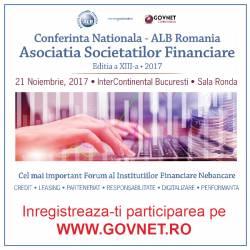Conferinta Nationala ALB Romania, Asociatia Societatilor Financiare - editia a XIII-a