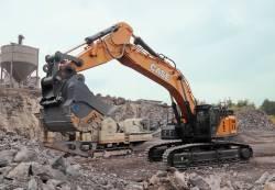 In Germania, roca bazaltica nu poate rezista excavatorului CASE CX750D