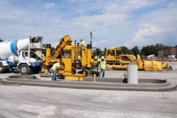 Finisoare pentru beton cu cofraj glisant de la GOMACO