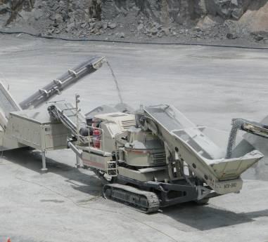 Blackhead Quarries Ltd opereaza cu cea mai mare flota de echipamente mobile de concasare si sortare METSO