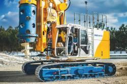 Compactitate, flexibilitate si eficienta, acestea sunt atuurile noului echipament de foraj rotativ, BAUER BG 15 H ValueLine