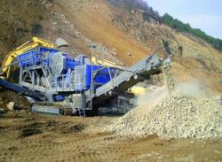 Kleemann Mobicat MC 125 Z sparge granit la cariera Ocolis