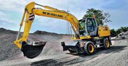 New Holland - noua serie de excavatoare pe pneuri
